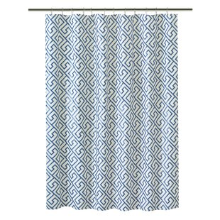 Comparison PEVA Greek Key Design Shower Curtain ByBath Bliss