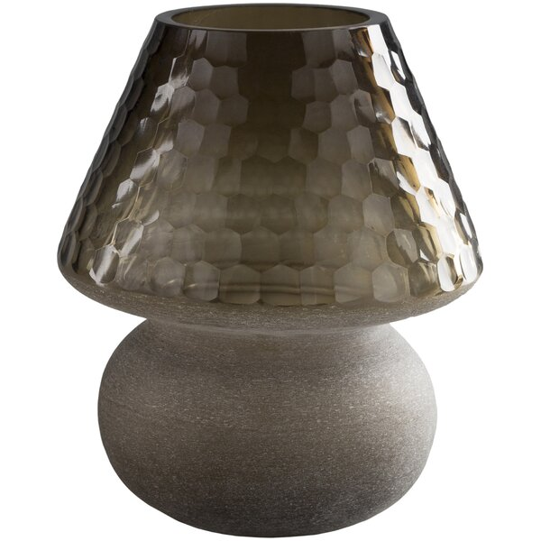 Liddell Traditional Glass Honeycome Table Vase by Red Barrel Studio