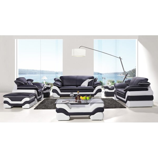Nan 7 Piece Leather Living Room Set by Orren Ellis