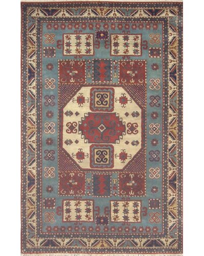 Cactus Ranch Light Blue/Antique Ivory Kazak Area Rug by American Home Rug Co.