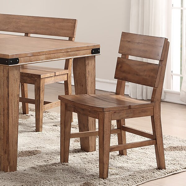 Aon Solid Wood Dining Chair (Set of 2) by Loon Peak