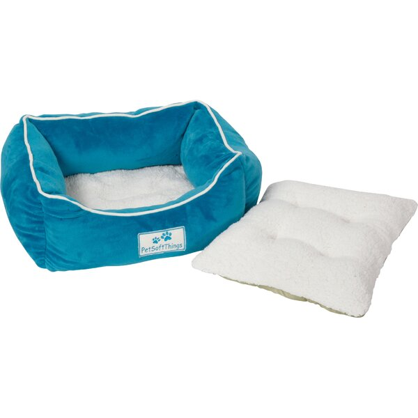 Flannel Pet Bed with Removable Pillows by Pet Soft Things