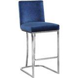 Peachy Modern Blue Velvet Bar Counter Stools Allmodern Alphanode Cool Chair Designs And Ideas Alphanodeonline