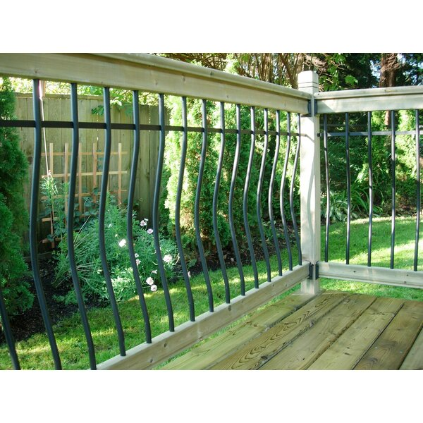 3.5 ft. H x 6 ft. W Tuscany Deck Straight Railing by Vista Railing Systems Inc