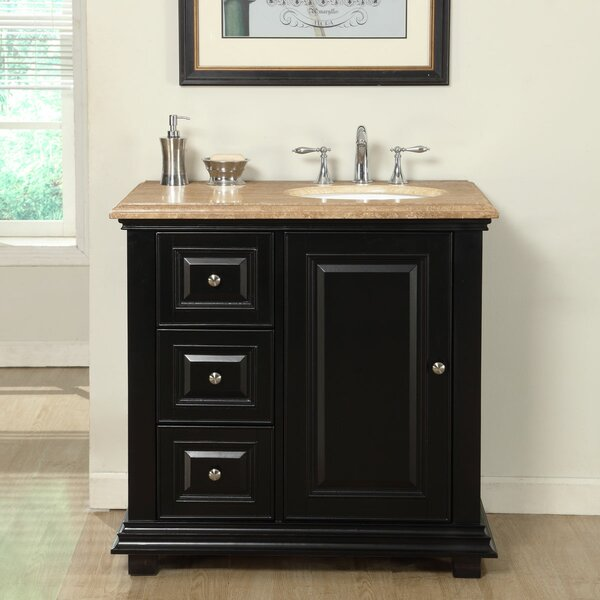 36 Single Bathroom Vanity Set with Sink on Right Side by Fleur De Lis Living