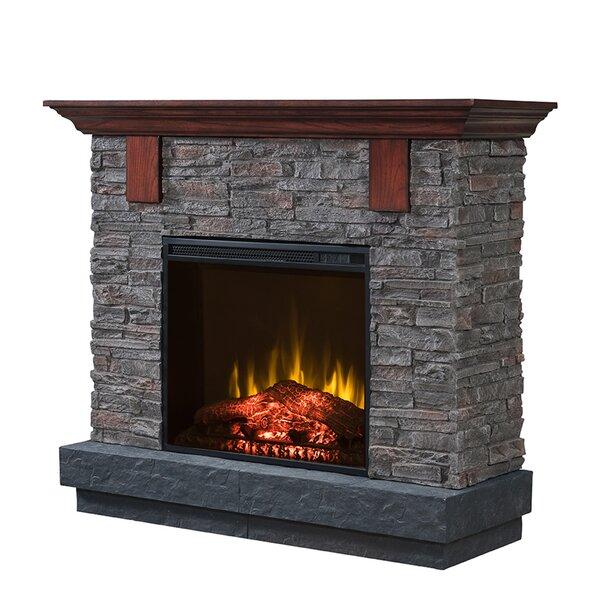 Aryan Fieldstone Infrared Electric Fireplace by Loon Peak