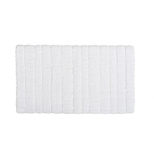 Ashbury Rectangle 100% Cotton Non-Slip Geometric Bath Rug
