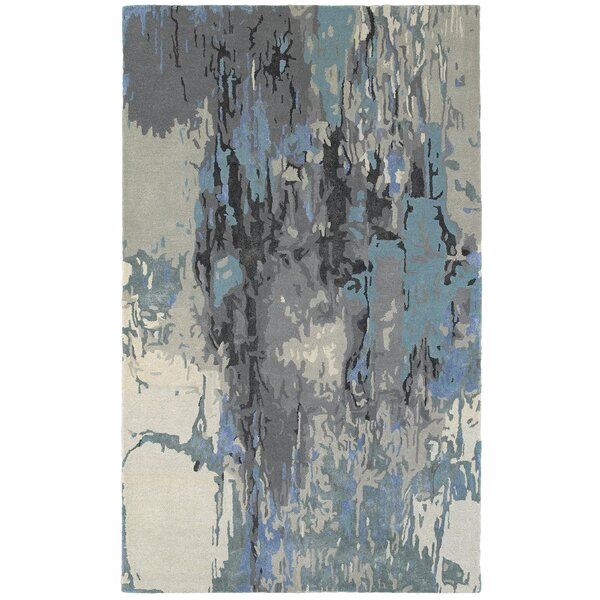Wora Hand-Crafted Blue/Gray Area Rug by Latitude Run