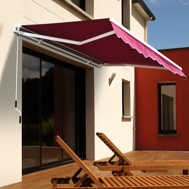 Outsunny 8 ft. W x 7 ft. D Fabric Retractable Standard ...