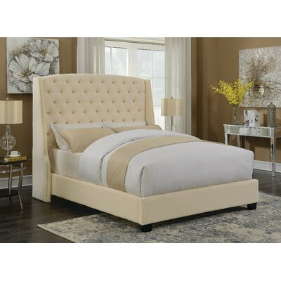 Ada Upholstered Standard Bed Color: Cream, Size: California King by Darby Home Co