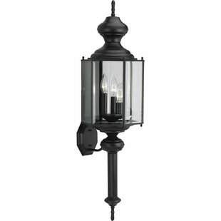 Order Triplehorn 1-Light Sconce in Black Beveled Glass By Alcott Hill