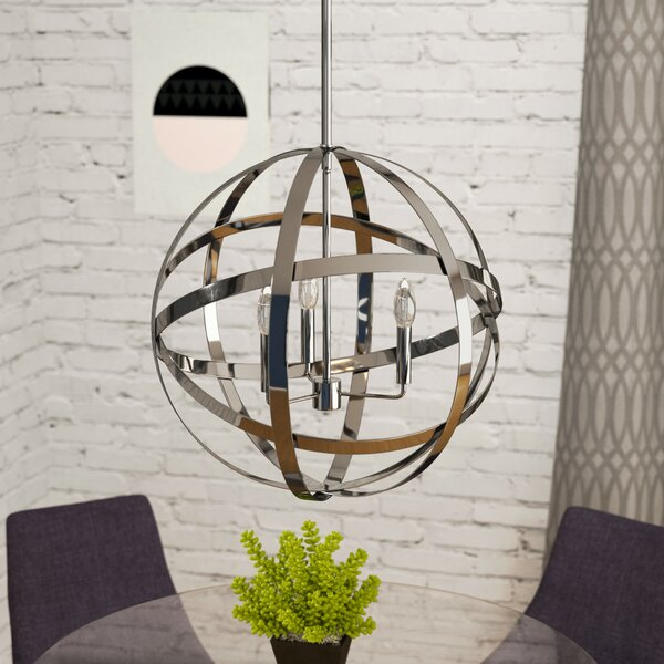 Curcio 3-Light Globe Chandelier by Mercury Row
