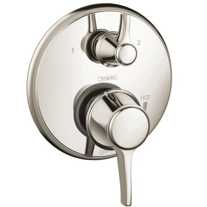 Metris C Pressure Balance Diverter Faucet Trim with Lever Handle by Hansgrohe