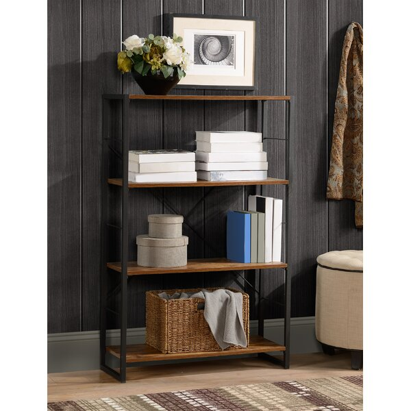 Bridport Metal And Wood Standard Bookcase By 17 Stories