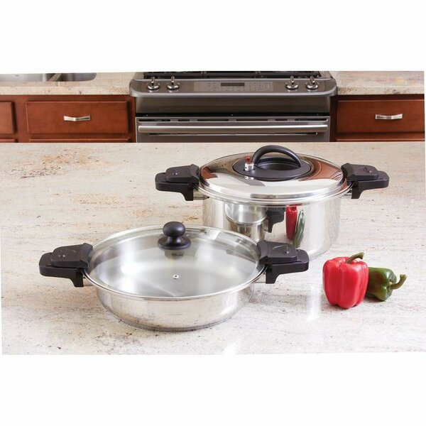 Precise Heat 2 Piece Low Pressure Cooker Set by Chef's Secret