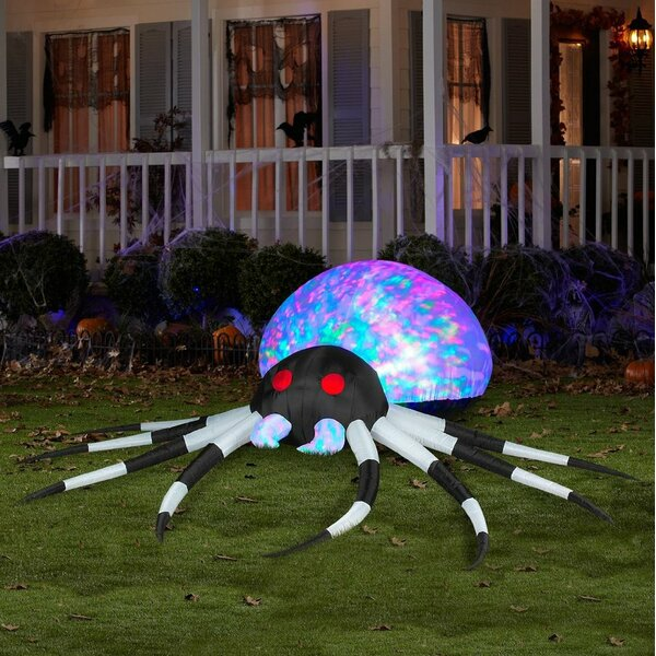 Projection Kaleidoscope Spider LG (RGB) Inflatable by The Holiday Aisle
