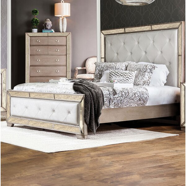 Alysa Upholstered Standard Bed By Rosdorf Park by Rosdorf Park New