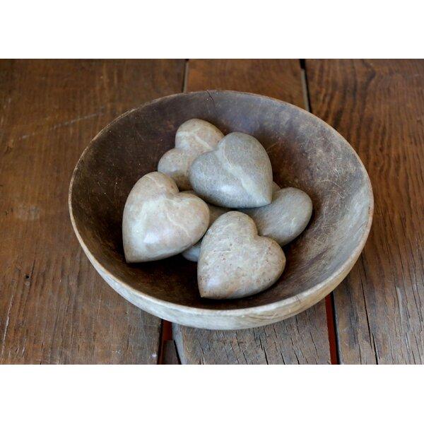 Gavina Decorative Heart Soapstone Vase Filler (Set of 6) by Winston Porter