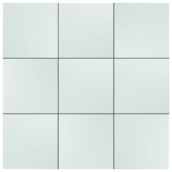 Tres 7.75 x 7.75 Ceramic Field Tile in White by EliteTile