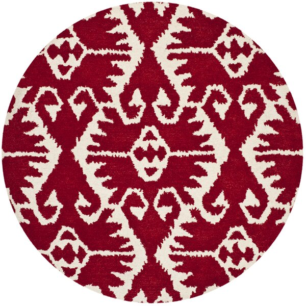 Kouerga Red Area Rug by Bungalow Rose