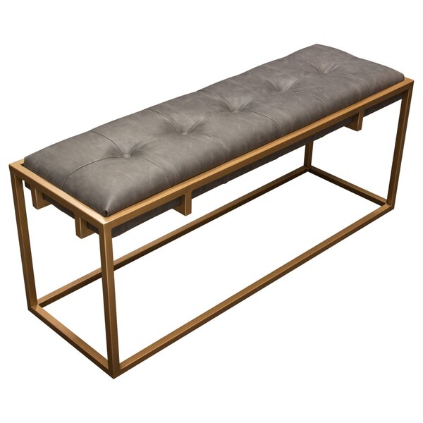 Babylon Faux Leather Bench by Diamond Sofa