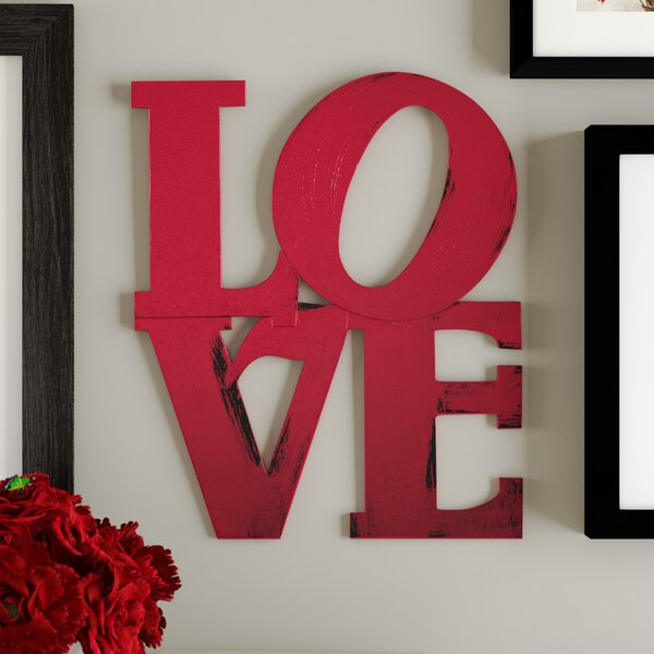 Modern Stacked Love Wall Décor by Red Barrel Stud