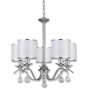 Reviews Ivyland 5-Light Shaded Chandelier By Alcott Hill
