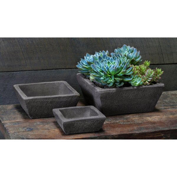 Shesla Earth Square Terracotta Pot Planter Set (Set of 2) by 17 Stories