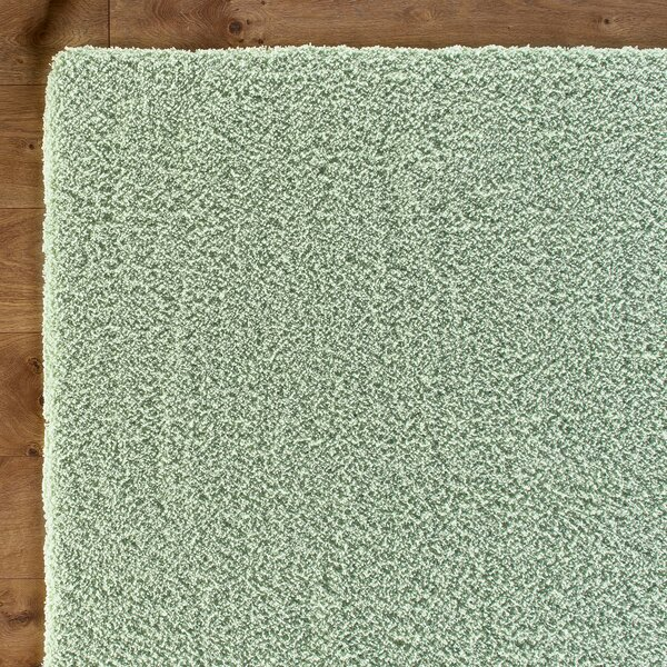 Shaggy Hand-Woven Spearmint Green Area Rug by Birch Lane Kids™