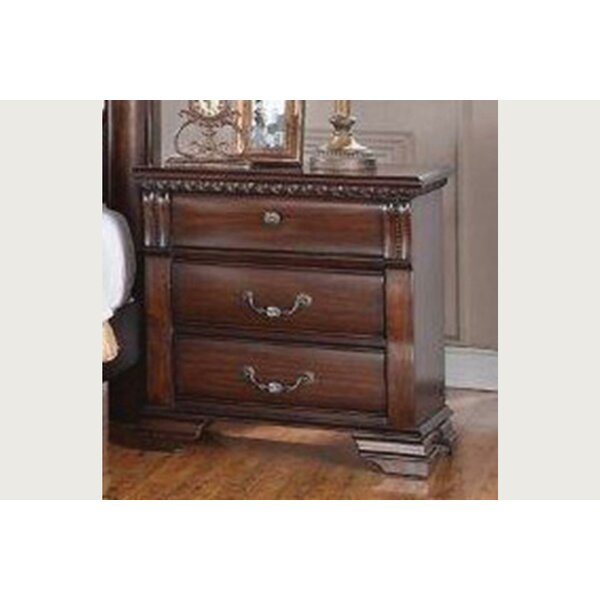 Montana 3 Drawer Nightstand by Charlton Home