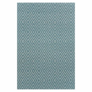 Hand Woven Blue Indoor/Outdoor Area Rug