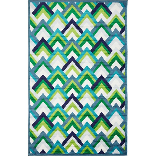 Sidney Blue Area Rug by Wrought Studio