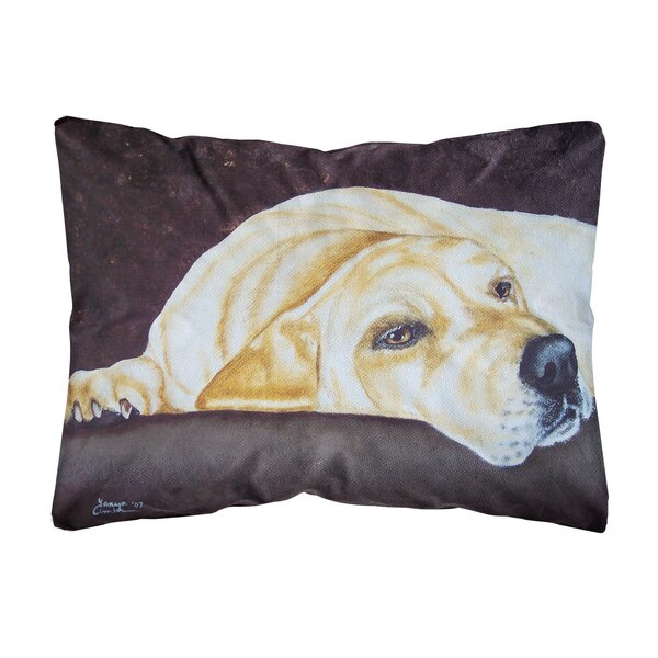 Rueter Naptime Labrador Fabric Indoor/Outdoor Throw Pillow by Winston Porter