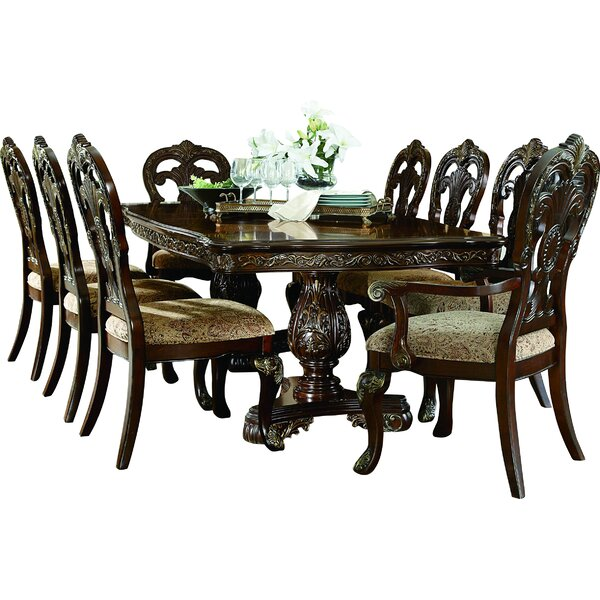 Chalus 9 Piece Extendable Dining Set by Astoria Grand Astoria Grand