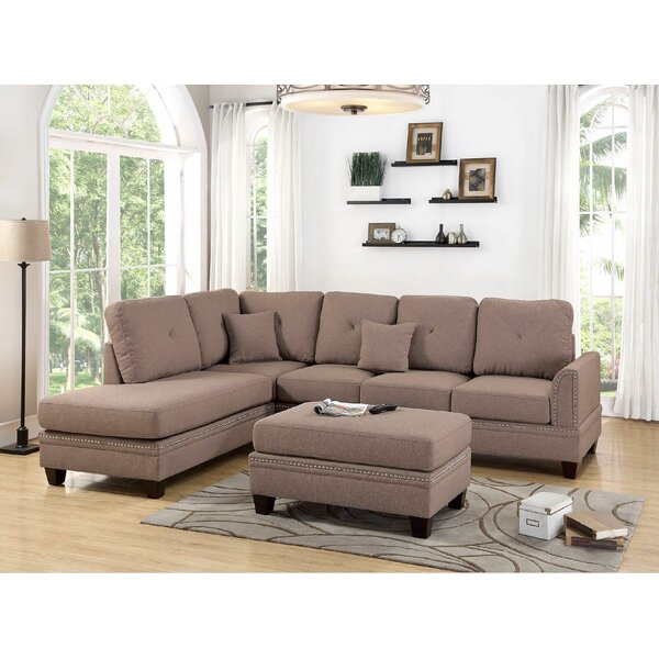 Top Brand 2018 Chapin Reversible Sectional by Alcott Hill by Alcott Hill