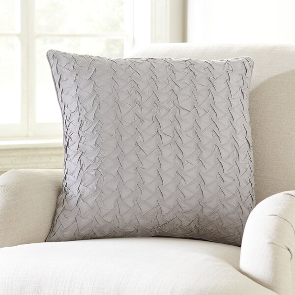 Lilas Cotton Voile Throw Pillow by Lark Manor