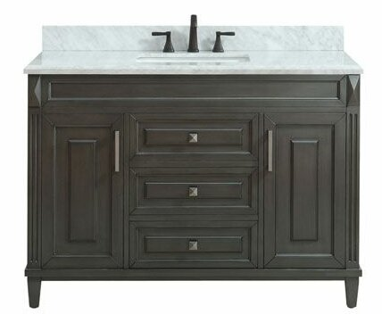Potvin Marble Top 49 Single Bathroom Vanity Set by Gracie Oaks