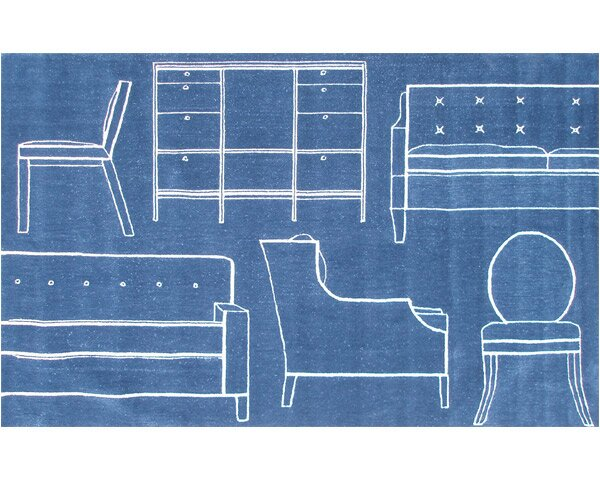 Flacq Hand-Tufted Blue Area Rug by Threadbind