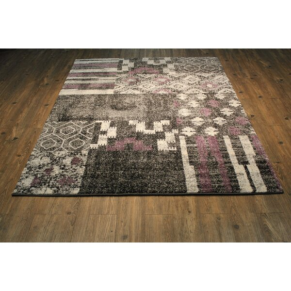 Alomar Black Area Rug By Bungalow Rose.