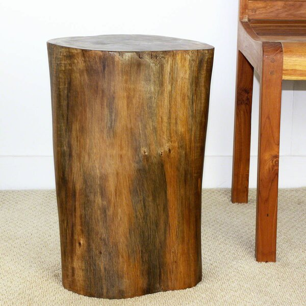 Dahlstrom Teak Stump Stool by World Menagerie