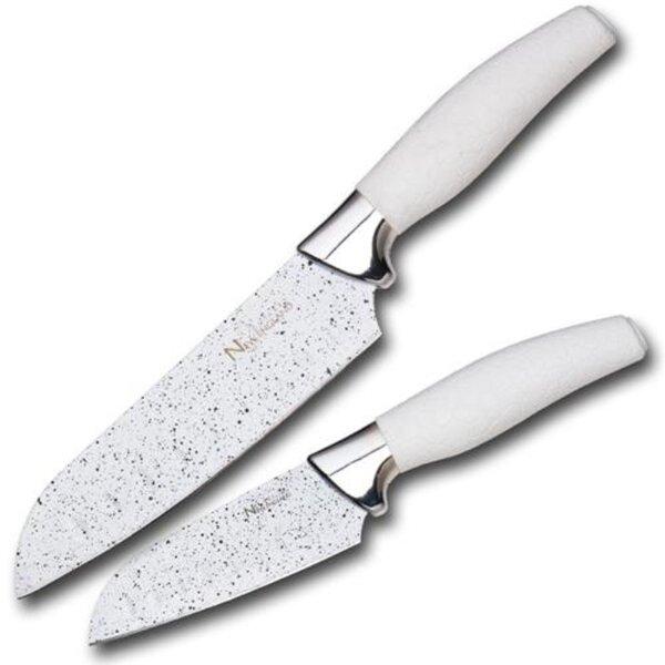 Santoku Knife Set (Set of 2) by New England Cutlery