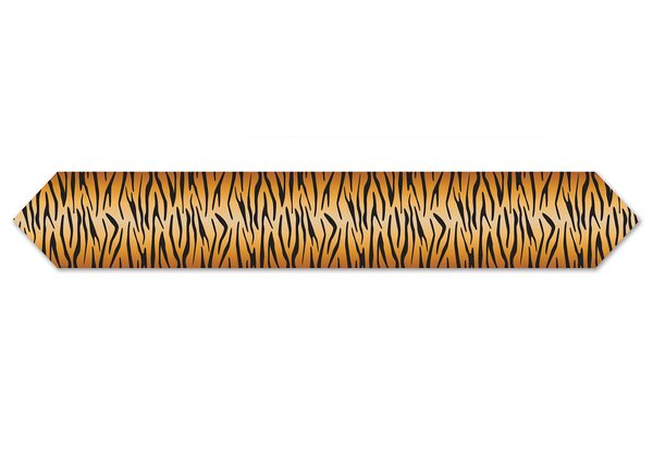 Printed Tiger Print Table Runner (Set of 12) by The Beistle Company