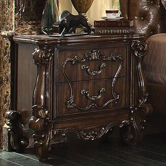 Royal 2 Drawer Nightstand by A&J Homes Studio