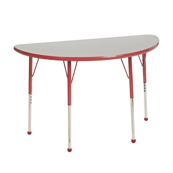 48'' x 24'' Half-Circle Activity Table by ECR4kids