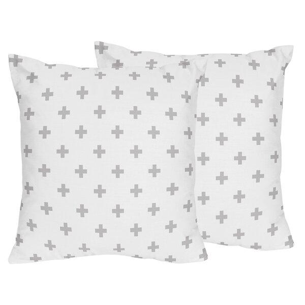 Fox Patch Swiss Cross Indoor/Outdoor Decorative Accent Throw Pillow (Set of 2) by Sweet Jojo Designs