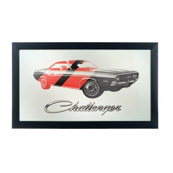 Dodge Challenger Framed Logo Accent Mirror by Trademark Global