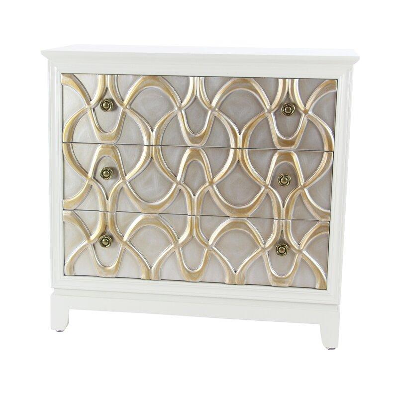Alverez Modern Wood 3 Drawer Accent Cabinet