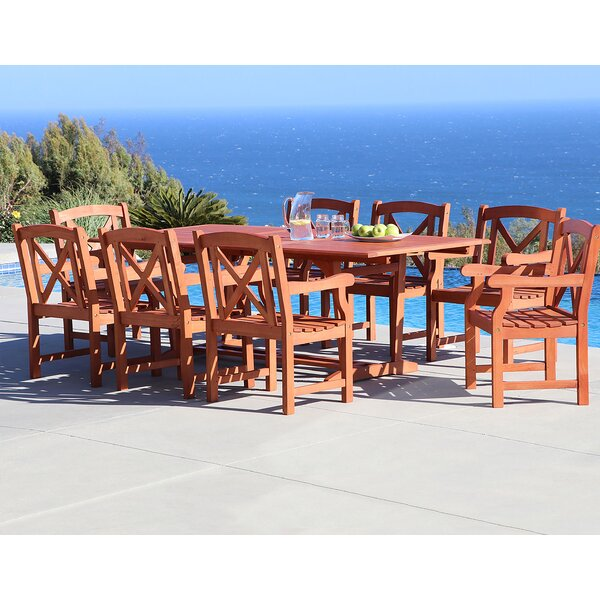 Stephenie 9 Piece Dining Set by Longshore Tides