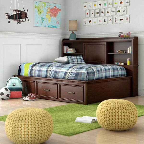 Earby Full Captain Bed with Drawers by Viv + Rae
