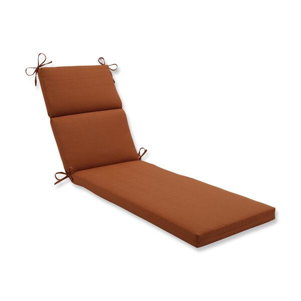 Cinnabar Indoor/Outdoor Chaise Lounge Cushion by Pillow Perfect